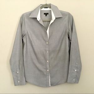 Talbots button down shirt 4 tailored fit